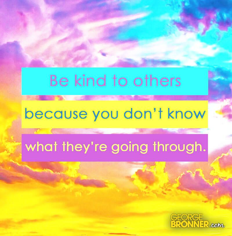 being kind to others essay The many faces of kindness today english language essay  the act or the state of being kind and marked by  or once one is kind to others in a group .